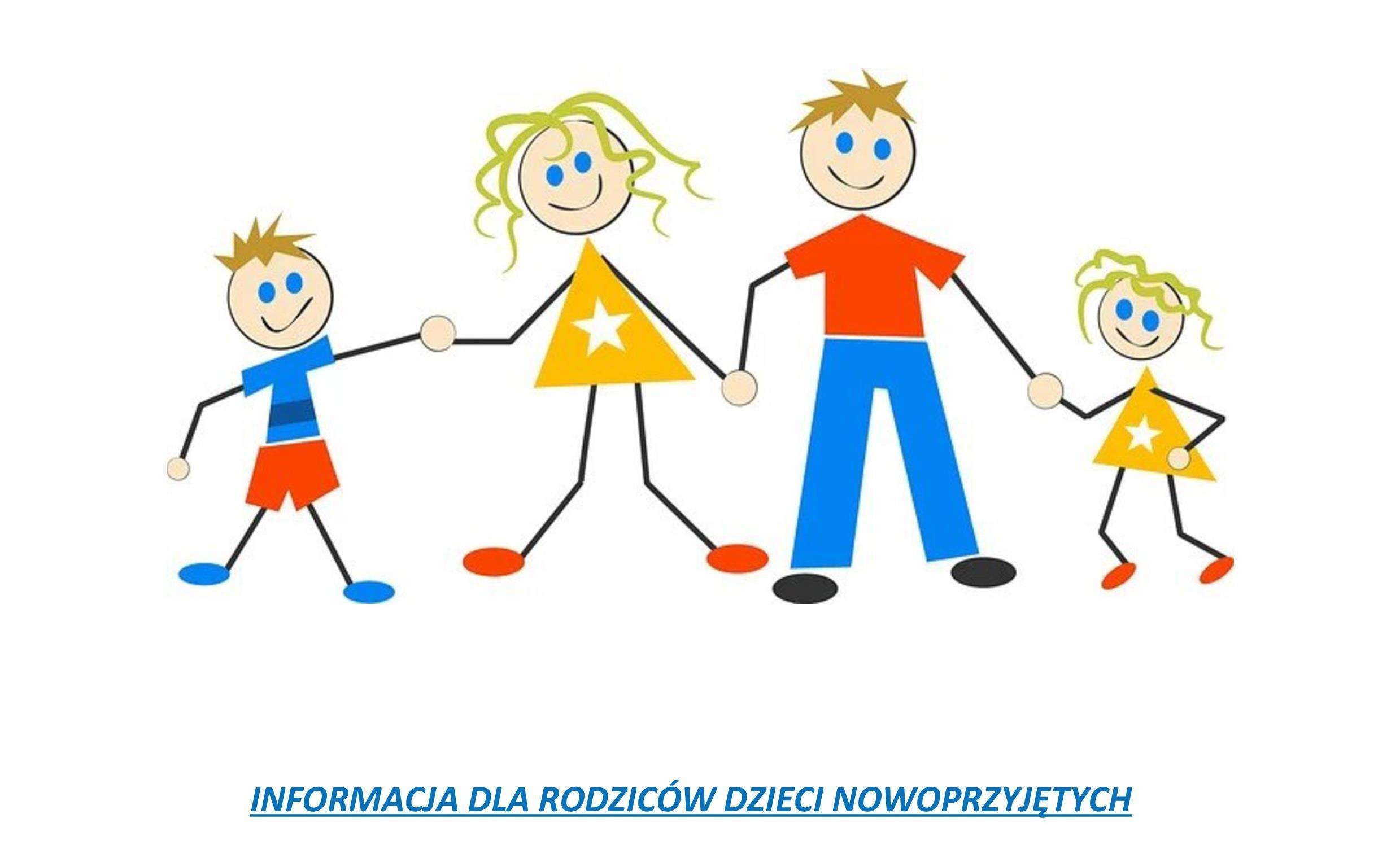 Rysunek kolorowej rodziny